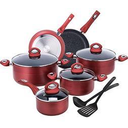 CO-Z 12-PCS Cookware Set Teflon-Coated Nonstick Pots and Pan