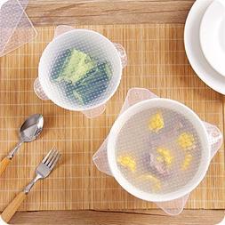 Reusable Square Silicone Bowl Cover Kitchen Utensils Cover F