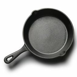 Round Cast Iron Skillet Grill Frying Pan Griddle Pre Seasone