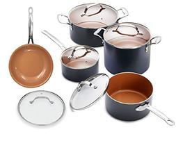 Gotham Steel 10 Piece Stock Sauce Pan Cookware Set