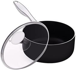 Saucepan - 2 Quart - 1810 Stainless Steel Handle - with Cove