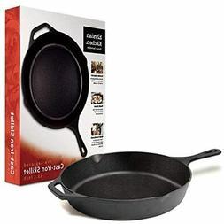 "Elysian Kitchen 12.5"" Pre-Seasoned Cast Iron Skillet"