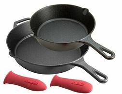 Pre-Seasoned Cast Iron Skillet 2-Piece Set  Oven Safe Cookwa
