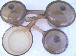 7 PIECE SET - Corning Visions Vision Ware Amber 1.5 Liter, 1