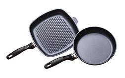 Swiss Diamond 2 Piece Set: Fry Pan and Grill Pan