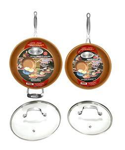 GOTHAM STEEL 2-Piece Set Frying Pan with Lid