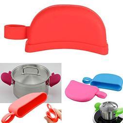 2Pcs Silicone Heat Resistance Assist Handle Holder, Pan Pot