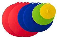 YumYum Silicone Lids Set of 6, Best Suction Lid Covers Keep