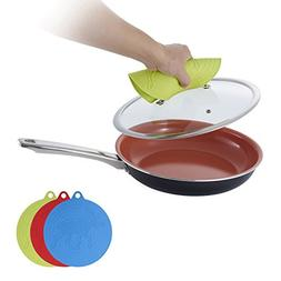 Hommate Silicone Mat Mitts Non Slip for Frying pans,Hot pad,