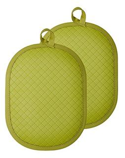 Rachael Ray Cotton Pot Holder/Hot Pad & Trivet with Silicone