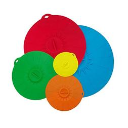 Alapaste Silicone Suction Lids-Set of 5 Colorful Food Covers