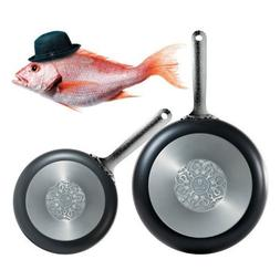 Alessi SMW110/24B Dressed Frying Pan in Aluminum with Non-st