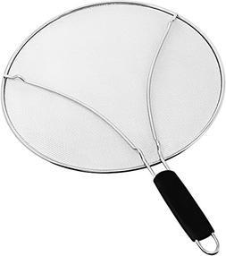 "Splatter Screen for Frying Pan - Large 13"" Stainless Steel G"