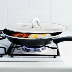 Frying Pan Splash Guard Hot Oil Protector Kitchen Dining Spl