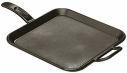 Square Cast Iron Griddle Pan LODGE Cookware Skillet Frying B