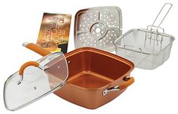 Square Copper Pan Pro - As Seen On Tv Free Us Shipping No Ta
