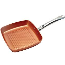 Copper Chef Square Grill Pan - 11 Inch skillet with Ceramic