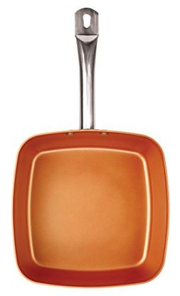 """Copper Square 9.5"""" Nonstick Fry Pan Cook Kitchen cookware ch"""