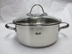Fissler Stainless Steel Casserole with Glass Lid 2.5 Qt. by