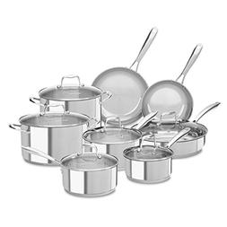 KitchenAid KCSS14LS 18/10 Stainless Steel 14 Piece Cookware