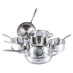 MICHELANGELO Stainless Steel Pots and Pans Set, Premium Stai