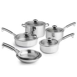 Revere® Stainless Steel 10-pc. Cookware Set