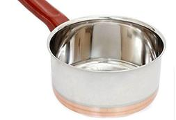 IndiaBigShop Stainless Steel Copper Bottom Saucepan/Cookware