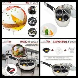 Modern Innovations Egg Poacher Pan Set with 4 Nonstick Large
