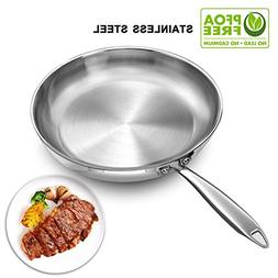 Stainless Steel Frying Pan 11 Inch, Induction Base Fry Pan 2
