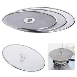 Stainless Steel Frying Pan Lid Splatter Cover Spill Proof Sc