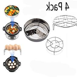 4 Pieces Steamer Basket Egg Rack Set for Instant Pot Pressur