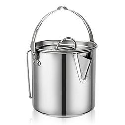 Evaliana 1.2L Stainless Steel Teakettles Outdoor Picnic Camp