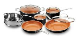 Steel 10-Piece Nonstick Copper Chef's Frying Pan & Cookwar