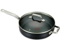 T-FAL ProGrade 3.5QT Deep Saute Frying Pan Covered Lid Therm