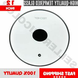 TEMPERED GLASS 12 INCH FRY FRYING PAN LID UNIVERSAL NON STIC