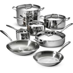 Tramontina 12-Piece Tri-Ply Clad Cookware Set, Stainless Ste