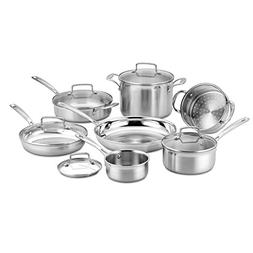 Cuisinart 12 Piece Tri-Ply Cookware Set, Multi, Stainless St