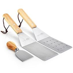 Turner Spatula Set for Teppanyaki Grill and Griddle – 3 Pi
