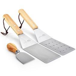 Turner Spatula Set for Teppanyaki Grill and Griddle – 3 Pi