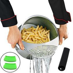 Best Utensils Pan Pot Spaghetti Strainer Premium Stainless S