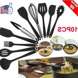 Utensils Set 10-Piece Kitchen Cooking Tools Non-Stick Heat-R