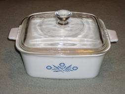 Vintage Corning Ware 1 1/2 Quart Cornflower Blue Rectangle B