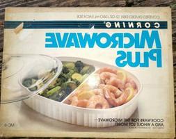Vintage CorningWare French White Divided Dish NOS 24 oz Glas