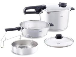 Fissler Vitavit Large 6 Piece 8.5 Quart and 4.2 Quart Premiu