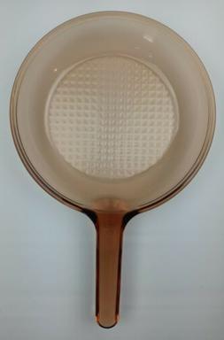 "Vtg Corning Ware Vision Amber 10"" Skillet Frying Pan France"