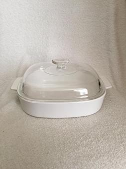 Corningware Winter White A-10-B Casserole Dish with Dome Lid