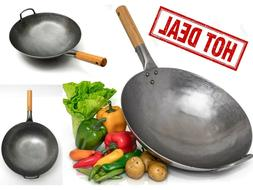 Wok Frying Pan Non Stick Chinese Food Cooking Fry Stir Sear