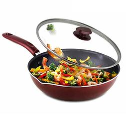 Wok Nonstick Smokeless Frying pan Induction cooker gas unive
