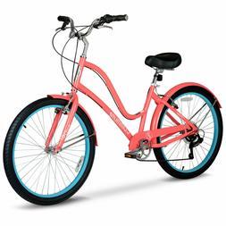 Hyper Commute Women's Comfort Bike 26 Wheels 7-Speed Shimano